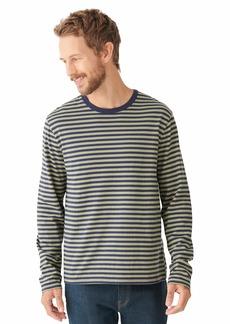 Lucky Brand Men's Long Sleeve Crew Neck Stripe Sunset Tee Shirt  XL