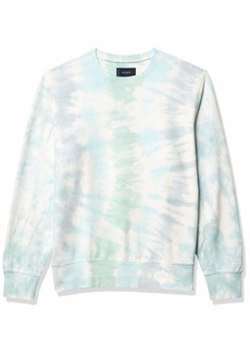 Lucky Brand Men's Long Sleeve Crew Neck Sueded Tie Dye Sweatshirt  S