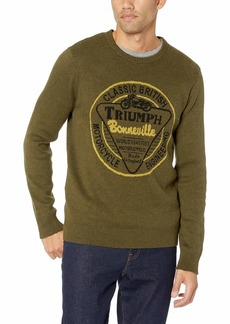 Lucky Brand Men's Long Sleeve Crew Neck Triumph Sweater  L