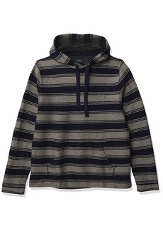 Lucky Brand Men's Long Sleeve Hooded Stripe Baja Sweatshirt  L