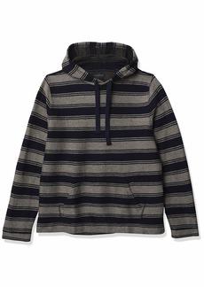 Lucky Brand Men's Long Sleeve Hooded Stripe Baja Sweatshirt  XXL