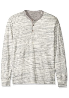 Lucky Brand Men's Long Sleeve Knit Henley in Heather Gray