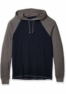 Lucky Brand Men's Long Sleeve Pullover Hooded Colorblock Shirt  L