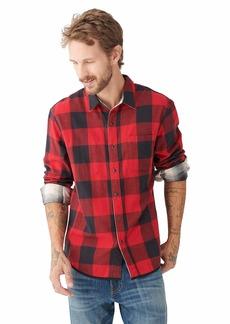 Lucky Brand Men's Long Sleeve Reversible One Pocket San Gabriel Shirt  L
