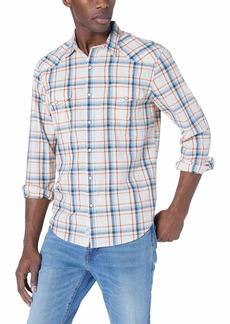 Lucky Brand Men's Long Sleeve Santa FE Western Shirt in  S