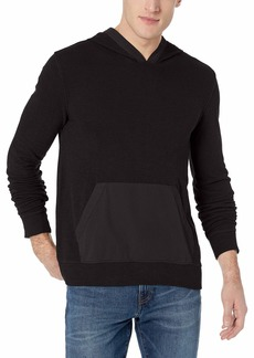 Lucky Brand Men's Long Sleeve Texture Terry Hoody with Woven Trim  XL