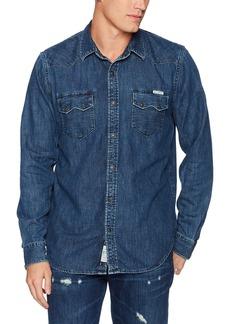 Lucky Brand Men's Long Sleeve Two-Pocket Denim Shirt  L