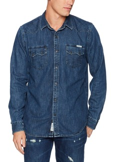 Lucky Brand Men's Long Sleeve Two-Pocket Denim Shirt  M