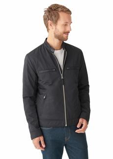 Lucky Brand Men's Long Sleeve Zip Front Nylon Biker Jacket  XL