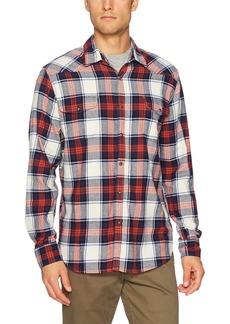 Lucky Brand Men's Mason Workwear Shirt in Multi White/red/Blue S