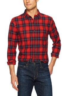 Lucky Brand Men's Mason Workwear Shirt in Red Multi XL
