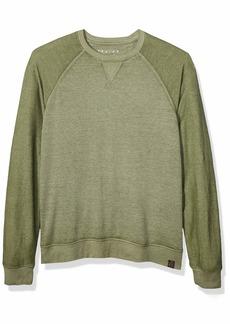 Lucky Brand Men's Micro Terry Fleece Crew Neck Sweatshirt  L