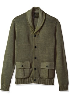 Lucky Brand Men's Military Shawl Collar Cardigan Sweater  S
