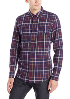 Lucky Brand Men's Miter Two Pocket Shirt in Navy Multi