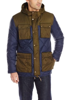 Lucky Brand Men's Mixed Nylon Snorkel Jacket