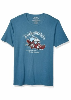 Lucky Brand Men's Moto Boar TEE  XL