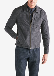 Lucky Brand Men's Nep Pattern Zip Front Jacket