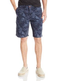 Lucky Brand Men's Palm Print Flat Front Short