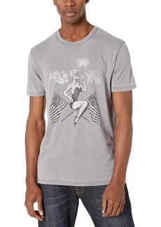 Lucky Brand Men's Patriotic PIN UP TEE  L