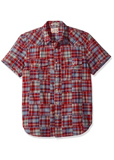Lucky Brand Men's Patwork Western Shirt