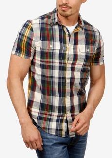 Lucky Brand Men's Plaid Seersucker Shirt