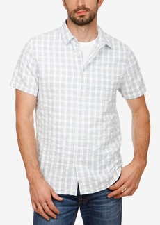 Lucky Brand Men's Plaid Seersucker Shirt