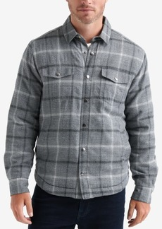 Lucky Brand Men's Plaid Shirt Jacket