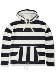 Lucky Brand Men's Pullover Hooded Stripe Loop Terry Baja Sweatshirt