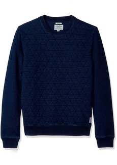 Lucky Brand Men's Quilted Crew Neck Sweater  L