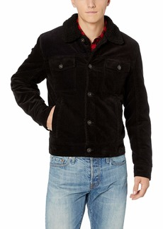 Lucky Brand Men's Richfield Corduroy Button Front Coat