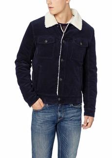 Lucky Brand Men's Richfield Corduroy Button Front Coat