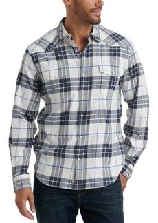 Lucky Brand Men's Santa Fe Regular-Fit Plaid Western Shirt
