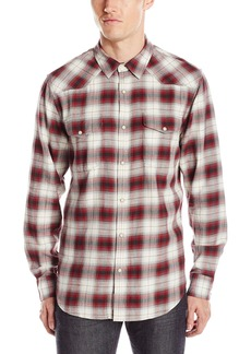 Lucky Brand Men's Santa Fe Western Shirt in Red Ombre Natural