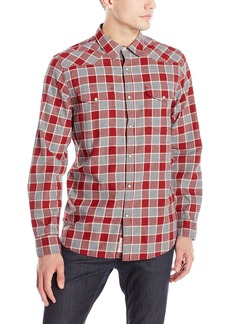 Lucky Brand Men's Santa Fe Western Shirt in Burgundy Multi Heather Natural