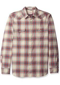 Lucky Brand Men's Santa Fe Western Shirt RED/LT Blue