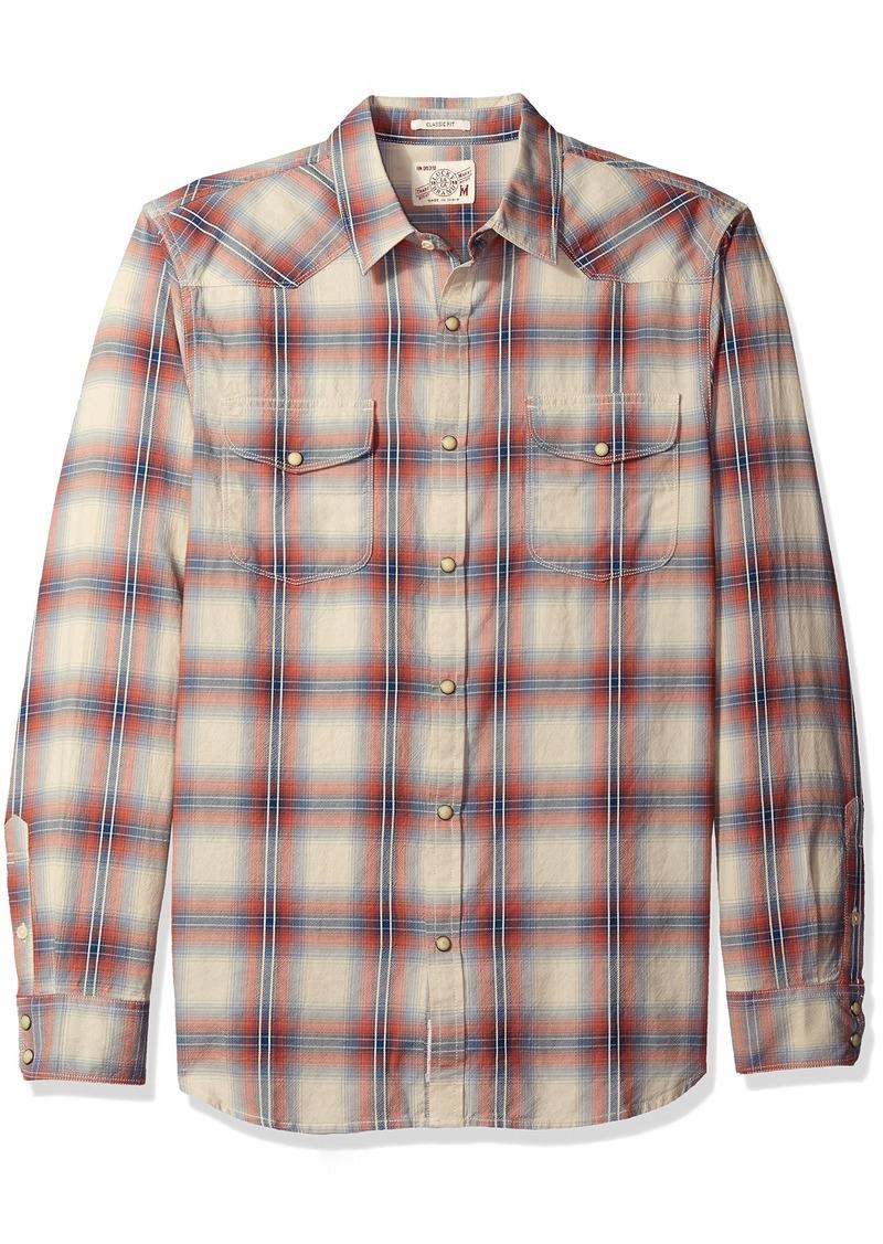 Lucky Brand Men's Santa Fe Western Shirt RED/LT Blue