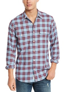 Lucky Brand Men's Saturday Stretch Regular-Fit Plaid Shirt