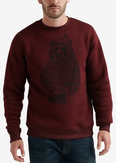 Lucky Brand Men's Shearless Bear Graphic Sweatshirt