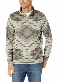 Lucky Brand Men's SHEARLESS Fleece Aztec Print Mock Neck Sweatshirt  S