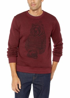 Lucky Brand Men's SHEARLESS Fleece Bear Crew Neck Sweatshirt  XL