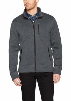 Lucky Brand Men's SHEARLESS Fleece Full Zip Mock Neck Sweatshirt  M