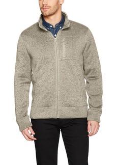 Lucky Brand Men's SHEARLESS Fleece Full Zip Mock Neck Sweatshirt  S