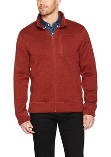 Lucky Brand Men's Shearless Fleece Mock Neck Sweater red pear XXL