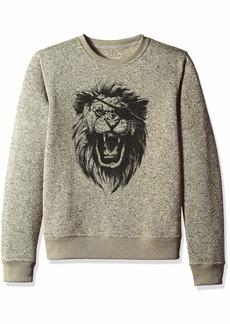 Lucky Brand Men's SHEARLESS Fleece Monster Crew Neck Sweatshirt  M