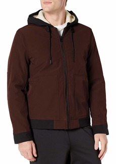 Lucky Brand Men's Sheridan Soft Shell Jacket with Sherpa Lined Hood