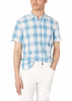 Lucky Brand Men's Short Sleeve Button UP 1 Pocket Ballona Shirt