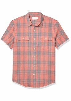 Lucky Brand Men's Short Sleeve Button Up Humbolt Workwear Shirt  XXL