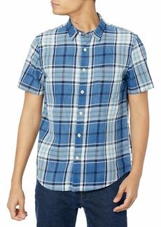 Lucky Brand Men's Short Sleeve Button Up One Pocket San Gabriel Shirt  XL