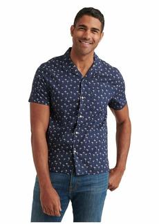Lucky Brand Men's Short Sleeve Button Up One Pocket San Gabriel Shirt  L
