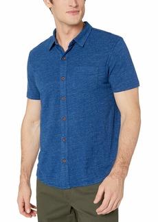 Lucky Brand Men's Short Sleeve Button UP Shirt  M
